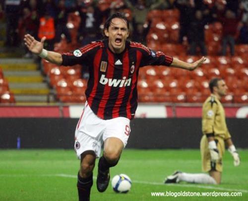 F. Inzaghi: Atacante do AC Milan