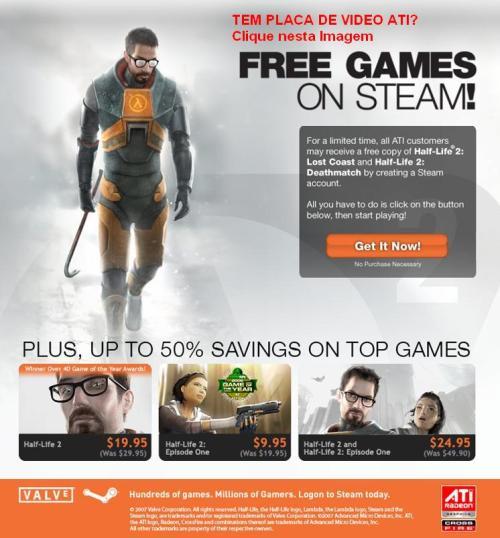 Placa ATI - Half Life na Steam