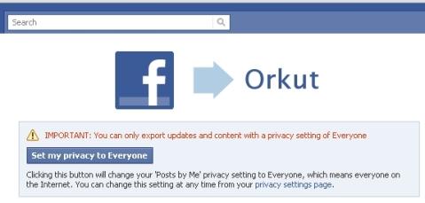 O Facebook anunciou hoje que lançará um novo recurso para os usuários integrarem as contas do Orkut à rede social. Com isso, o usuário poderá publicar mensagens de status, fotos e vídeos no Facebook e, automaticamente, compartilhar o conteúdo no Orkut.