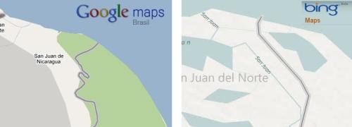 Diferença entre os mapas: os dados do Bing correspondem aos oficiais